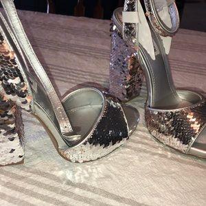 Steve Madden Sequin Block Heels